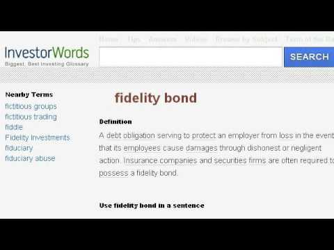 Definition of a Surety Fidelity Bond